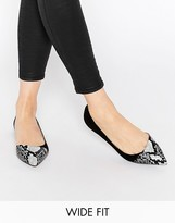 Asos LEAPFROG Wide Fit Pointed Ballet Flats