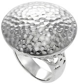 Journee Collection Women's Hammered Ring in Sterling Silver - Round