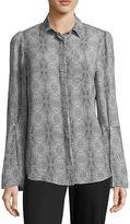 WORTHINGTON Worthington Long Sleeve Button-Front Shirt-Talls