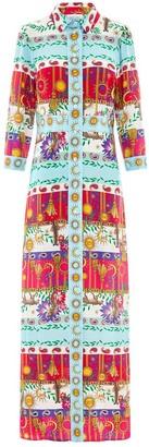 Hayley Menzies - Multicolor Enchanted Leopard Print Long Shirt Dress - xl