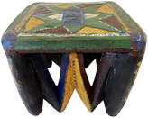 One Kings Lane Vintage African Old Nupe Low Stool