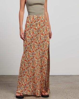 Bec & Bridge Bec + Bridge - Women's Orange Maxi skirts - Wild Poppies Maxi Skirt - Size 6 at The Iconic