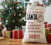 Pottery Barn Kids Return Toys to Santa Bag
