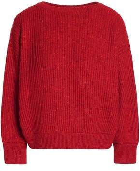 Brunello Cucinelli Marled Ribbed Wool-Blend Sweater