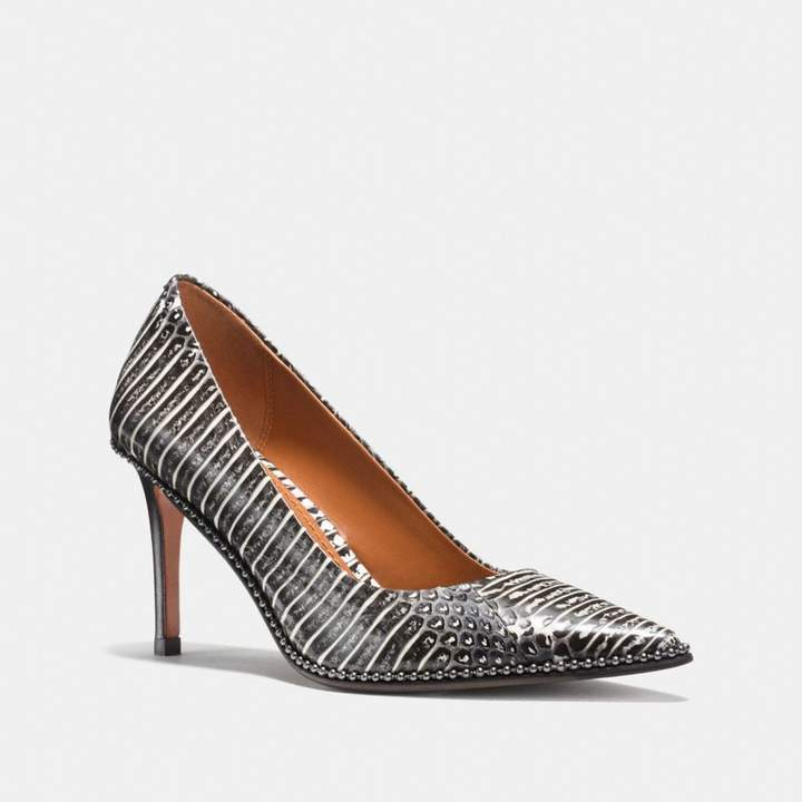 Coach Beadchain Pump In Snakeskin