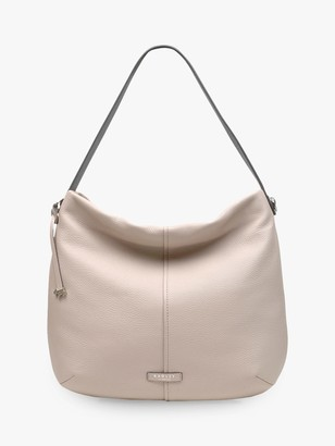 Radley Rose Castle Leather Hobo Bag, Dove Grey