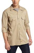 Dickies Men's Long Sleeve Work Shirt, Dark Navy, Small