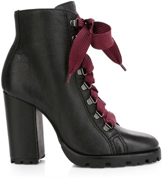 Schutz Zara Leather Combat Boots