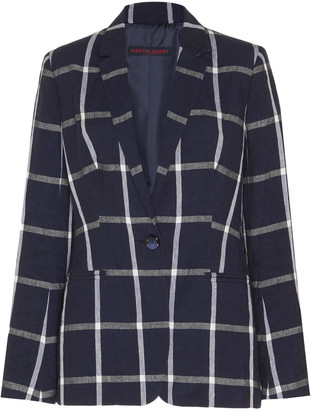 Martin Grant Checked Linen Blazer