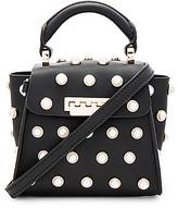 Zac Posen Eartha Iconic Pearl Lady Mini Top Handle in Black.