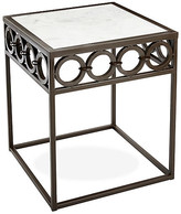 One Kings Lane Jaiti Marble Side Table - Bronze - frame, bonze; top, white
