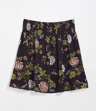 LOFT Floral Smocked Waist Skirt