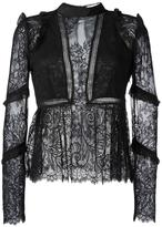 Self-Portrait lace panel blouse