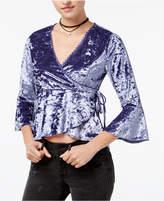 American Rag Juniors' Velvet Wrap Top, Created for Macy's
