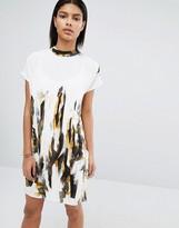 Vila High Neck Printed Shift Dress