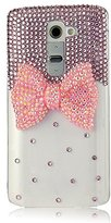 LtieltieTM Handmade Luxury Bling Bow Bowknot Diamond Rhinestone Crystal Jewelled Gems Hard Case Cover For smart phones (iphone 6/6s)