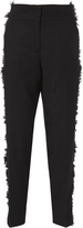 Derek Lam Wool Side Fringe Tapered Pants