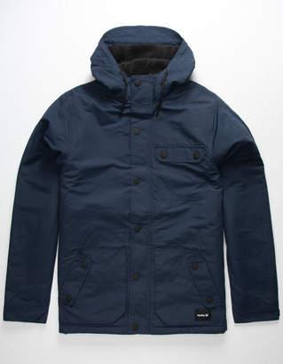 Hurley Slammer Navy Mens Hooded Jacket