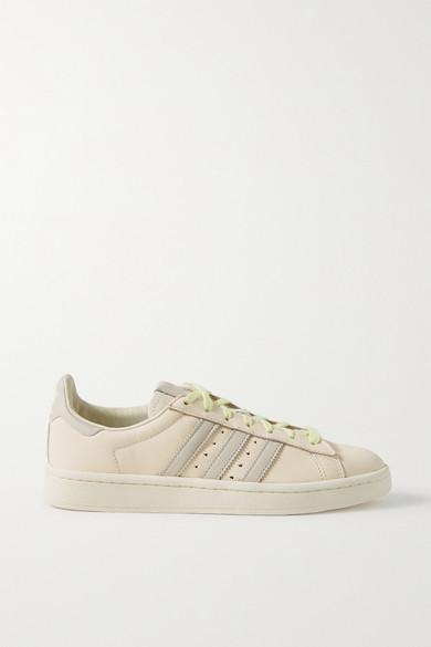 adidas + Pharrell Williams Hu Campus Leather Sneakers - Cream