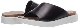 Ecco Corksphere Slide (Black Cow Nubuck) Women's Shoes