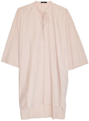 Bassike Cotton Relaxed Shirt Dress in Blush