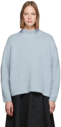 3.1 Phillip Lim Blue Oversized Dropped Shoulder Turtleneck