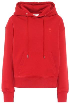 AMI Paris Ami de Cur cotton jersey hoodie