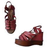 Chloé Pink Leather Sandals