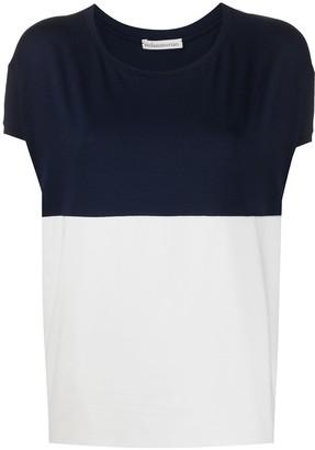 Stefano Mortari two-tone crew neck T-shirt