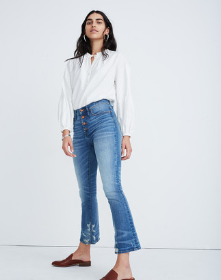 Madewell Petite Cali Demi-Boot Jeans in Bess Wash: Button-Front Edition