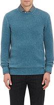 Drumohr Men's Cashmere Crewneck Sweater-BLUE
