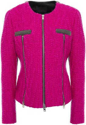 Alexander Wang Zip-detailed Boucle-tweed Jacket