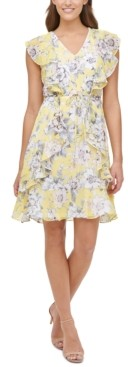 Tommy Hilfiger Victoria Floral Chiffon Fit & Flare Dress