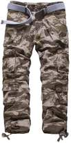 WSLCN Mens Cargo Work Trousers Multipockets Military Combat Pants
