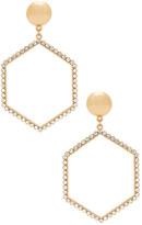 Ettika Hexagon Drop Earrings