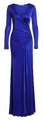 Roberto Cavalli Women's Jersey Wrap Gown