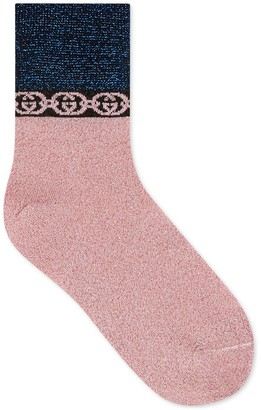 Gucci Socks with Interlocking G chain