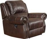 Asstd National Brand Graceland Swivel Faux-Leather Rocker Recliner