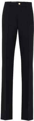 Gucci High-rise flared silk and wool pants