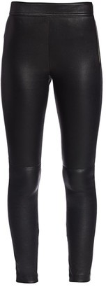 Helmut Lang Zip Leather Leggings