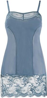 La Perla Brigitta lace-trimmed slip dress