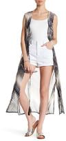 BCBGMAXAZRIA Sleeveless Print Vest