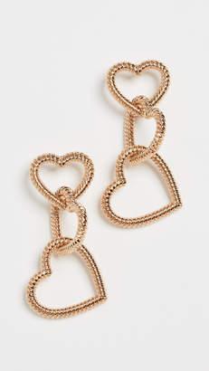 Stella + Ruby Linked Hearts Earrings