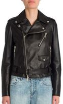 Valentino Rockstud Oversized Leather Biker Jacket