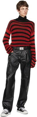 Vivienne Westwood Black & Silver Orb Square Buckle Belt