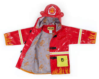 Kidorable Little and Big Boy with Comfy Fireman Raincoat