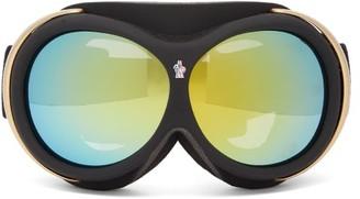 Moncler Logo-jacquard Strap Ski Goggles - Blue Multi