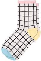 Oliver Bonas Grid Colour Block Socks