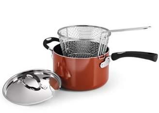 Tramontina 3-Piece 4-Quart Deep Fryer with Stainless Steel Basket