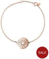 Links of London Sterling Silver Rose Gold Plate Timeless Bracelet
